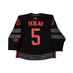 Aaron Ekblad Signed Team North America Authentic Adidas Jersey (UDA COA)