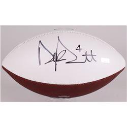 Dak Prescott Signed Cowboys Logo Football (Panini COA)