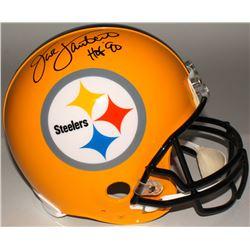 """Jack Lambert Signed Steelers Full-Size Authentic On-Field Helmet """"HOF' 90"""" (JSA COA)"""