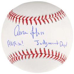 "Aaron Judge Signed LE OML Baseball Inscribed ""All Rise!""  ""Judgement Day!"" (Fanatics Hologram)"