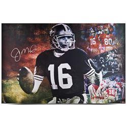 """Joe Montana Signed 49ers """"Joe Cool"""" 24x36 Limited Edition Print (UDA COA)"""