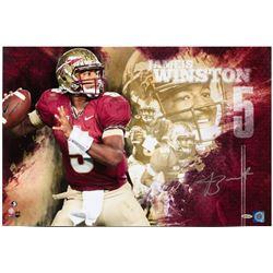 "Jameis Winston Signed Florida State Seminoles ""College Sensation"" 16x24 Photo (UDA COA)"