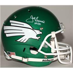 "Joe Greene Signed North Texas Mean Green Full Size Helmet Inscribed ""HOF 87"" (JSA COA)"