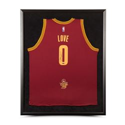 Kevin Love Signed Cavaliers 2016 NBA Finals 32x38 Custom Framed Jersey (UDA COA)