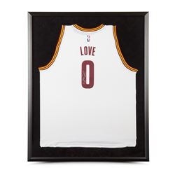 Kevin Love Signed Cavaliers 32x38 Custom Framed Jersey (UDA COA)