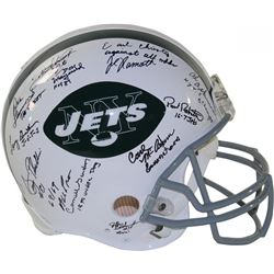 1969 Jets Full-Size Authentic On-Field Helmet Team-Signed by (24) with Joe Namath, Emerson Boozer, M
