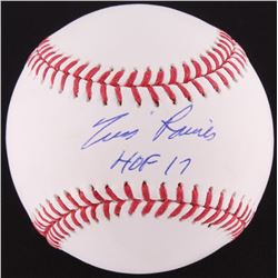 "Tim Raines Signed OML Baseball Inscribed ""HOF 17"" (MLB Hologram)"