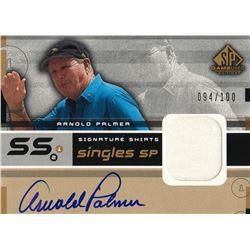 2003 SP Game Used Signature Shirts Singles SP #AP Arnold Palmer