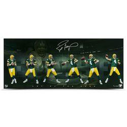 "Brett Favre Signed Packers ""Art of the Pass"" LE 15x36 Photo (UDA COA)"