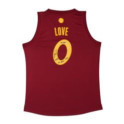 """Kevin Love Signed Cavaliers Limited Edition Jersey Inscribed """"20/6/3""""  """"109-108 win Xmas"""" (UDA COA)"""