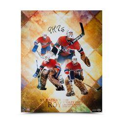 "Patrick Roy Signed Canadiens ""St. Patrick"" 16x20 Photo (UDA COA)"