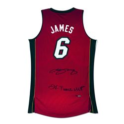 """LeBron James Signed Heat Limited Edition Jersey Inscribed """"2X Finals MVP"""" (UDA COA)"""