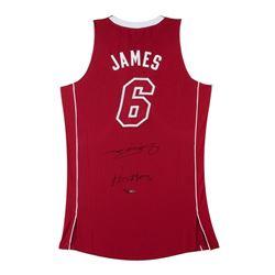 "LeBron James Signed Heat Limited Edition Pride Jersey Inscribed ""Heatles"" (UDA COA)"