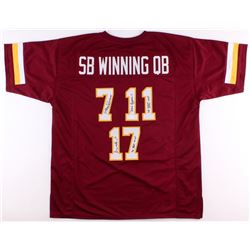 Mark Rypien, Joe Theismann  Doug Williams Signed Redskins Jersey With (3) Super Bowl Inscriptions (J