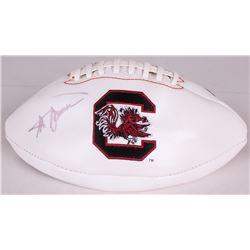Steve Spurrier Signed South Carolina Gamecocks Logo Football (Radtke COA)