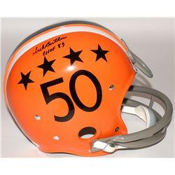 """Dick Butkus Signed Illinois Fighting Illini Full-Size TK Suspension Helmet Inscribed """"CHOF 83"""" (JSA"""
