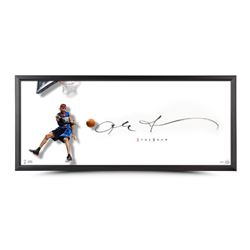 """Allen Iverson Signed 76ers """"The Show"""" 20x46 Custom Framed Lithograph (UDA COA)"""