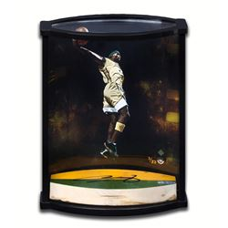 """LeBron James Signed """"Airborne"""" Limited Edition Game-Used Floor Piece Curve Display (UDA COA)"""