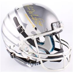 Marcus Mariota Signed Oregon Ducks Custom Chrome Full-Size Helmet Inscribed  Heisman '14  (Radtke CO