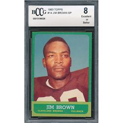 1963 Topps #14 Jim Brown SP (BCCG 8)
