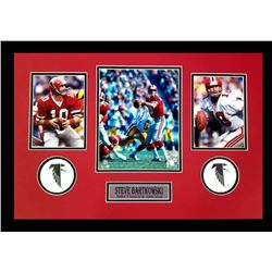 Steve Bartkowski Signed Falcons 16x26 Custom Framed Photo Display (Radtke COA)