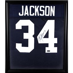 Bo Jackson Signed Auburn Tigers 23x27 Custom Framed Jersey Display (Radtke COA)