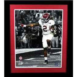 Derrick Henry Signed Alabama Crimson Tide 23x27 Custom Framed Photo Display (Radtke COA  Henry Holog