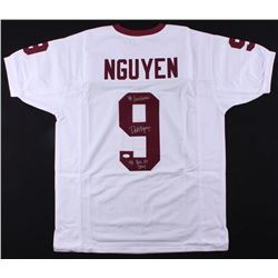 "Dat Nguyen Signed Texas AM Jersey Inscribed ""'98 Lombardi""  ""'98 Big XII DPOY"" (JSA COA)"