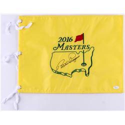 Bernhard Lange Signed 2016 Masters Golf Pin Flag (JSA COA)