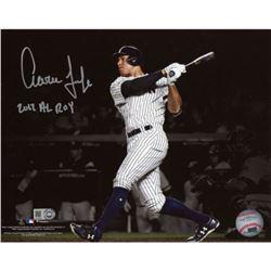 "Aaron Judge Signed Yankees 16x20 Photo Inscribed ""2017 AL ROY"" (Fanatics Hologram)"