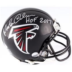 "Morten Andersen Signed Falcons Mini Helmet Inscribed ""HOF 2017"" (JSA COA)"