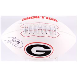 Hines Ward Signed Georgia Bulldogs Logo Football (JSA COA)