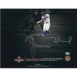 Jose Altuve Signed Astros 11x14 Photo (Fanatics Hologram)