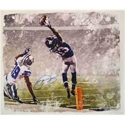 """Odell Beckham Jr. Signed Giants """"The Catch"""" 22x26 Photo on Canvas (Steiner COA)"""