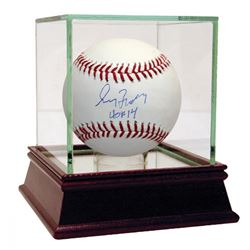 "Greg Maddux Signed Baseball Inscribed ""HOF 14"" with High Quality Display Case (Steiner COA)"