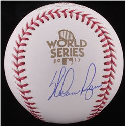 Nolan Ryan Signed 2016 World Series Logo Baseball (FSC COA)
