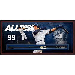 Aaron Judge Signed Yankees 23.5x49.5x3.25 Custom Framed Chandler Game Model Baseball Bat Shadowbox D