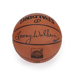 Lenny Wilkens Signed LE Hall Of Fame Logo Basketball (Panini COA)