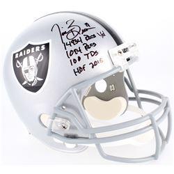 Tim Brown Signed Raiders Full-Size Helmet with (4) Career Stat Inscriptions (Radtke COA)