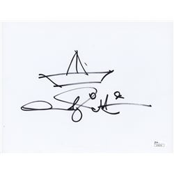 Andy Muschietti Signed 8x10 Sketch (JSA COA)