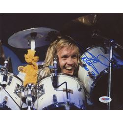 "Nicko McBrain Signed ""Iron Maiden"" 8x10 Photo (PSA COA)"