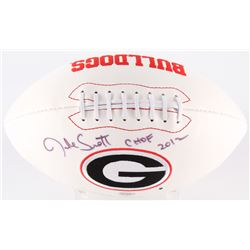 "Jake Scott Signed Georgia Bulldogs Logo Football Inscribed ""CHOF 2012"" (Radtke Hologram)"
