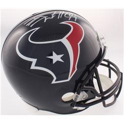 J.J. Watt Signed Texans Full-Size Helmet (JSA COA)