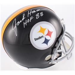 "Jack Ham Signed Steelers Full-Size Throwback Helmet Inscribed ""HOF 88"" (JSA COA)"