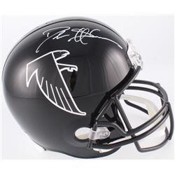 Deion Sanders Signed Falcons Throwback Full-Size Helmet (JSA COA)