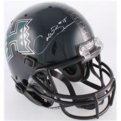 Colt Brennan Signed Hawaii Rainbow Warriors Full-Size Helmet (JSA COA)