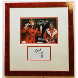 Jack White  Loretta Lynn Signed 16x17 Custom Framed Photo  Signature Cut Display (JSA COA)