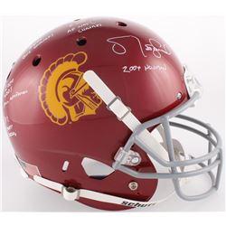Matt Leinart Signed USC Trojans Full-Size Helmet with Inscriptions (JSA COA)