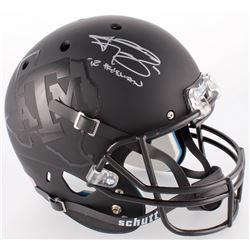 "Johnny Manziel Signed Texas AM Custom Matte Black Full-Size Helmet Inscribed ""'12 Heisman"" (JSA COA)"