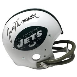 Joe Namath Signed Jets Full-Size Riddell TK Suspension Helmet (JSA COA)
